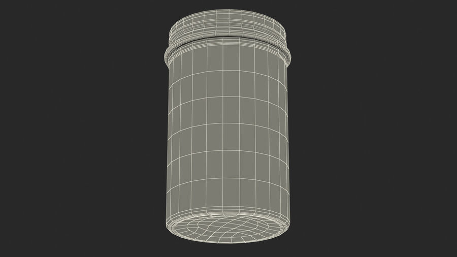 Kitchen Storage Glass Jar with Steel Lid royalty-free 3d model - Preview no. 23