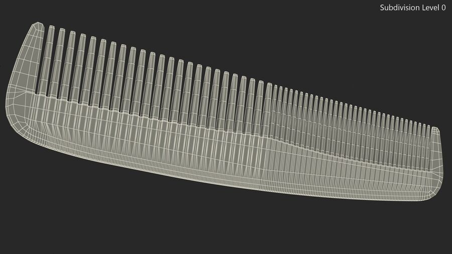 Baxter of California Pocket Comb Black royalty-free 3d model - Preview no. 11
