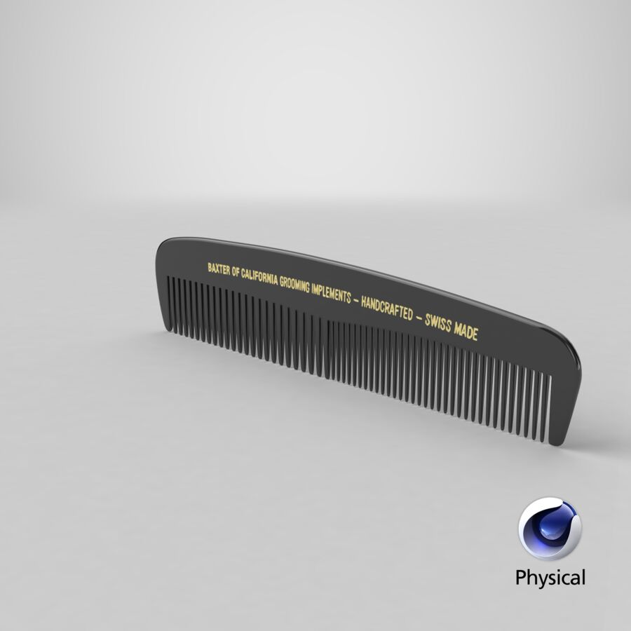 Baxter of California Pocket Comb Black royalty-free 3d model - Preview no. 5