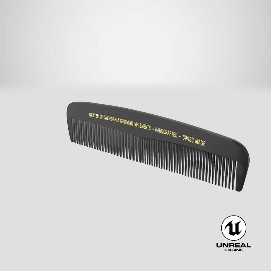 Baxter of California Pocket Comb Black royalty-free 3d model - Preview no. 8