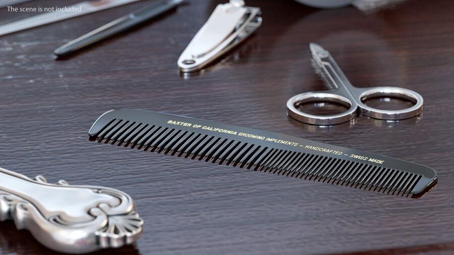 Baxter of California Pocket Comb Black royalty-free 3d model - Preview no. 4