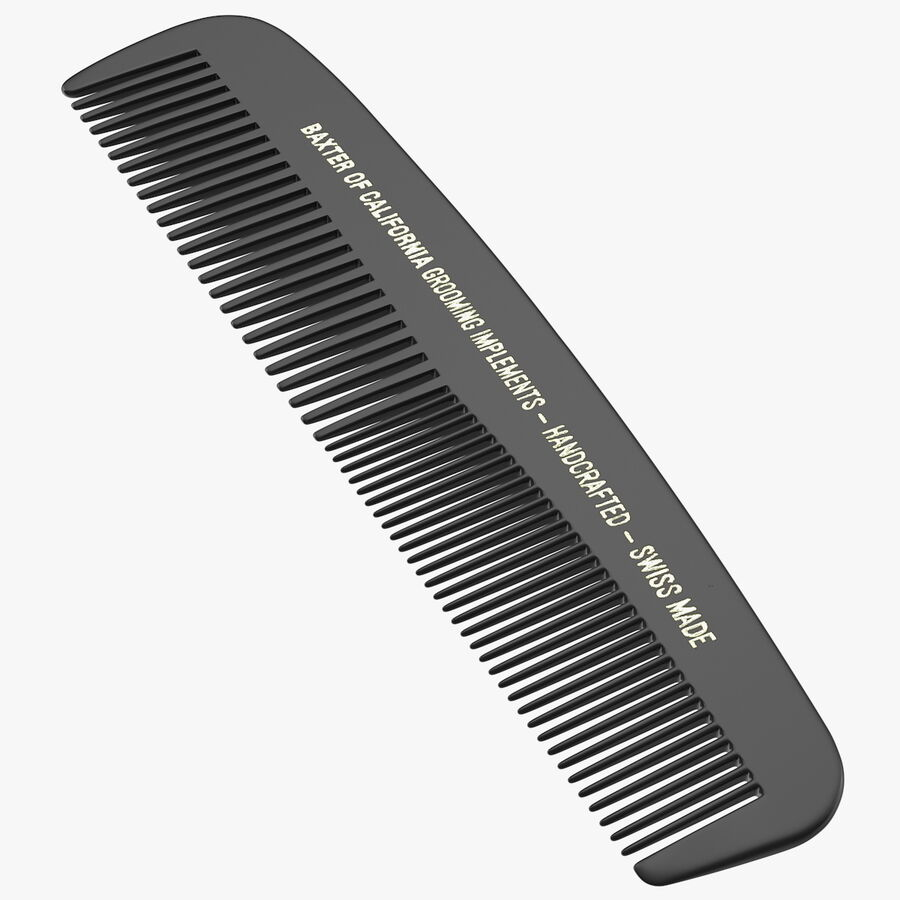 Baxter of California Pocket Comb Black royalty-free 3d model - Preview no. 1