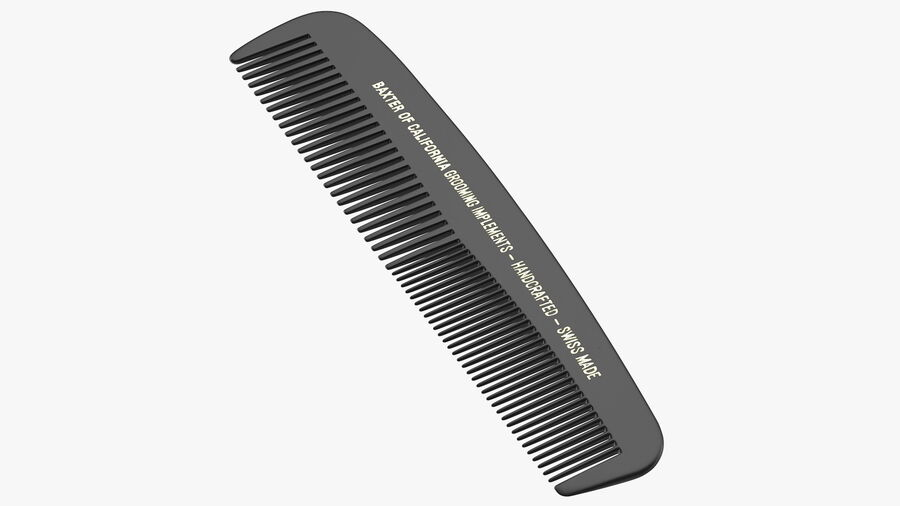 Baxter of California Pocket Comb Black royalty-free 3d model - Preview no. 2