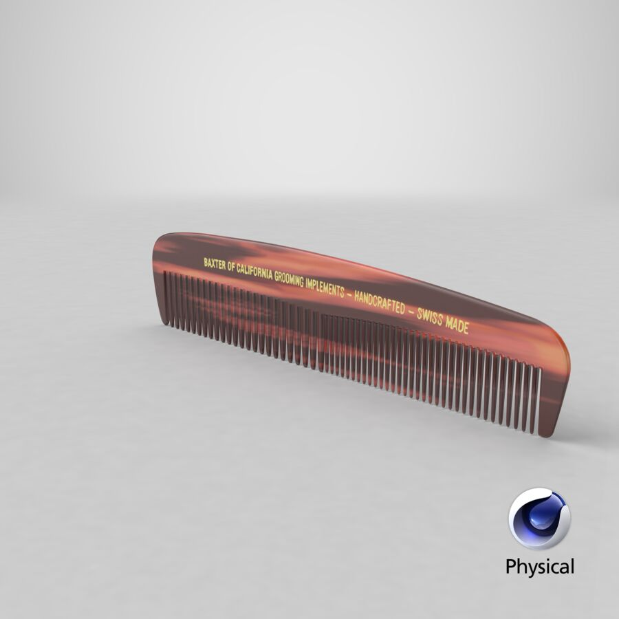 Baxter of California Pocket Comb Brown royalty-free 3d model - Preview no. 4