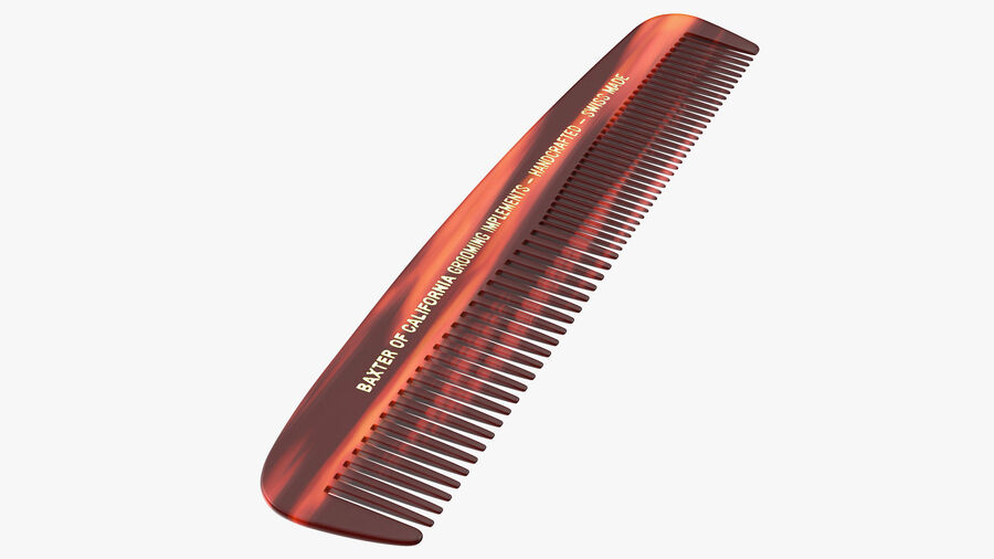 Baxter of California Pocket Comb Brown royalty-free 3d model - Preview no. 2