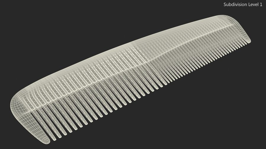 Baxter of California Pocket Comb Brown royalty-free 3d model - Preview no. 14