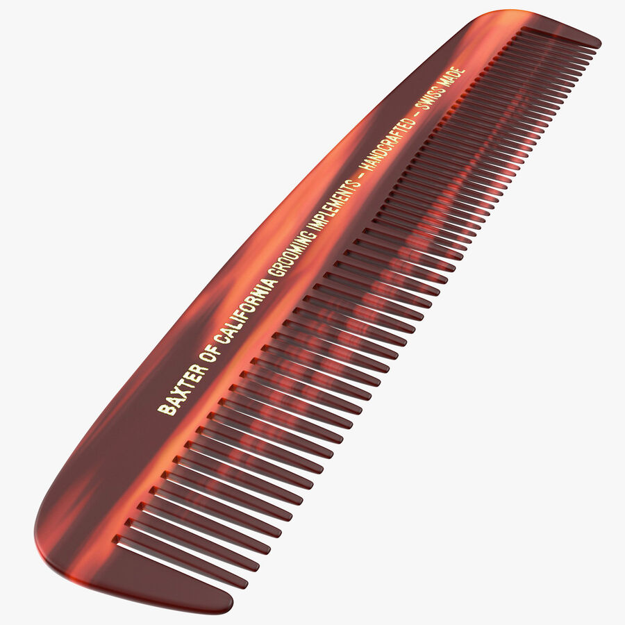 Baxter of California Pocket Comb Brown royalty-free 3d model - Preview no. 1