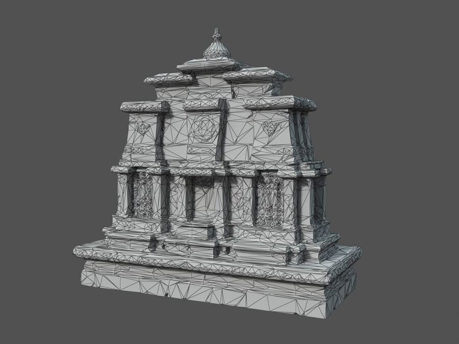 Ruiny Ancient Temple - Khmer Architecture Pack A-01 royalty-free 3d model - Preview no. 36