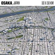 Osaka Japonya 50x50km 3d model