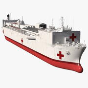 US Navy Hospital Ship Mercy 3d model