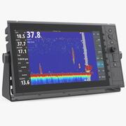 Морской эхолот с цветным ЖК-дисплеем 3d model