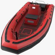 Uppblåsbar räddningsbåt 3d model
