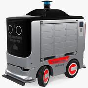 자율 배송 서비스 로봇 리깅 3d model