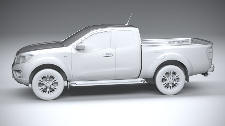 Nissan Navara 2020 royalty-free 3d model - Preview no. 23