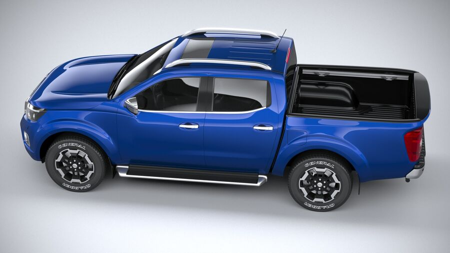 Nissan Navara DoubleCab 2020 royalty-free 3d model - Preview no. 10
