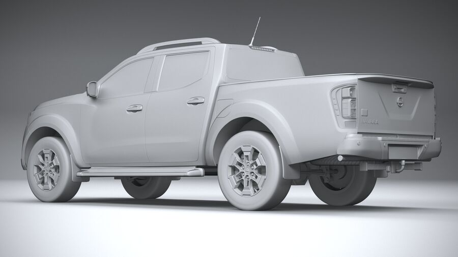 Nissan Navara DoubleCab 2020 royalty-free 3d model - Preview no. 22