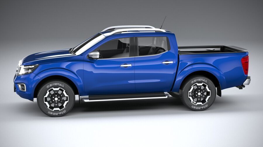 Nissan Navara DoubleCab 2020 royalty-free 3d model - Preview no. 9