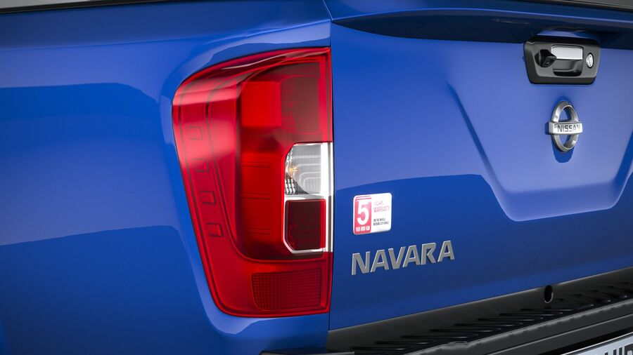 Nissan Navara DoubleCab 2020 royalty-free 3d model - Preview no. 16