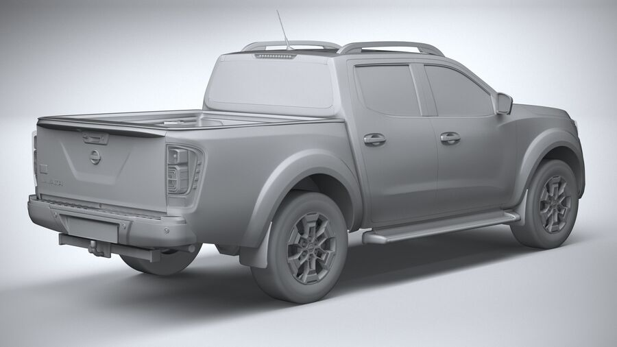 Nissan Navara DoubleCab 2020 royalty-free 3d model - Preview no. 26