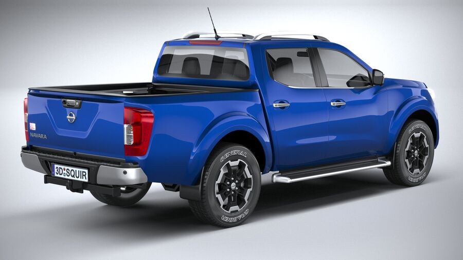Nissan Navara DoubleCab 2020 royalty-free 3d model - Preview no. 18