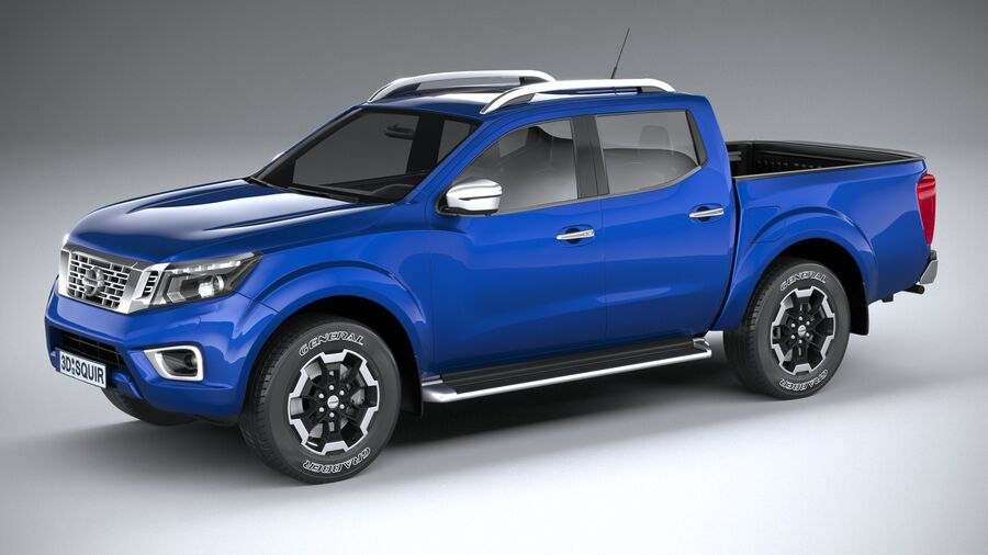 Nissan Navara DoubleCab 2020 royalty-free 3d model - Preview no. 1