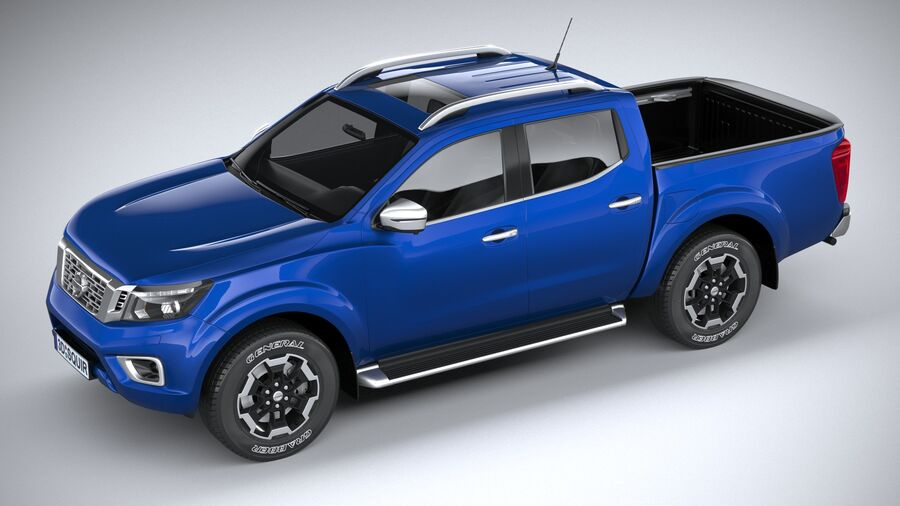 Nissan Navara DoubleCab 2020 royalty-free 3d model - Preview no. 8