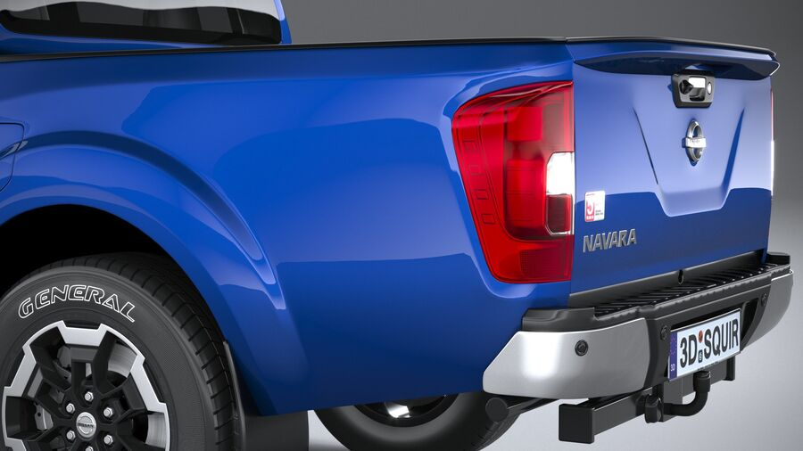 Nissan Navara DoubleCab 2020 royalty-free 3d model - Preview no. 7