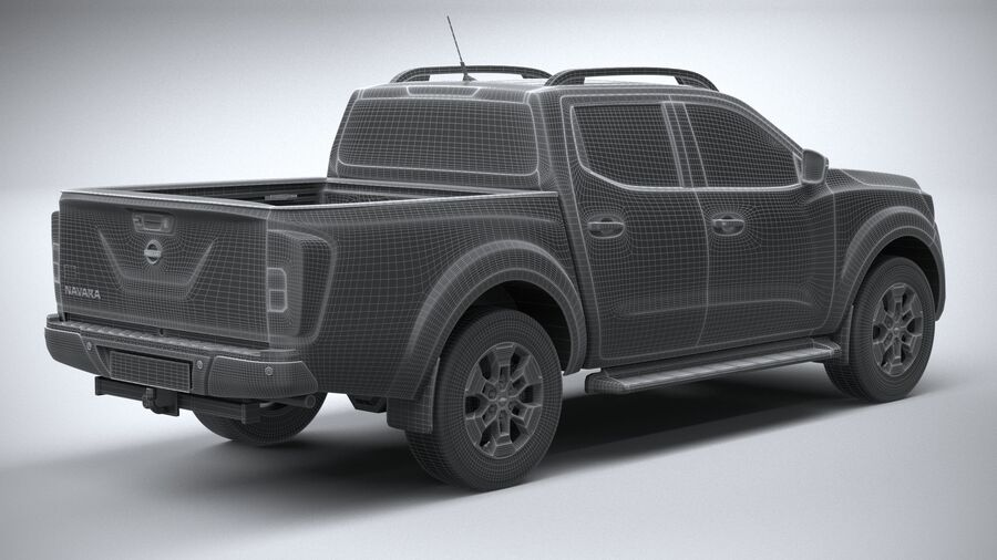 Nissan Navara DoubleCab 2020 royalty-free 3d model - Preview no. 28