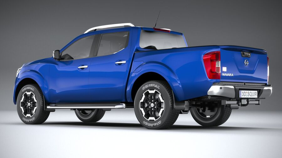 Nissan Navara DoubleCab 2020 royalty-free 3d model - Preview no. 6