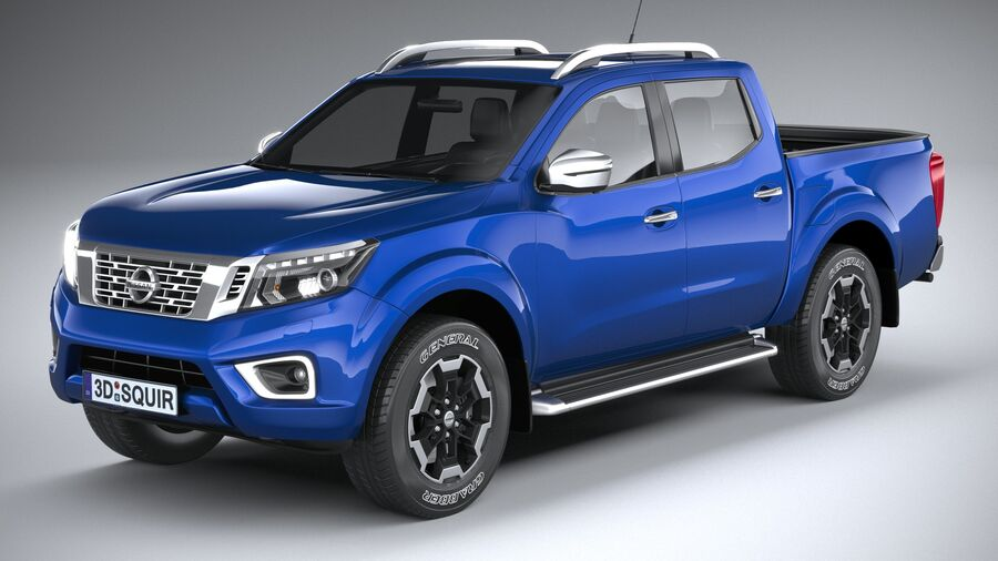 Nissan Navara DoubleCab 2020 royalty-free 3d model - Preview no. 2