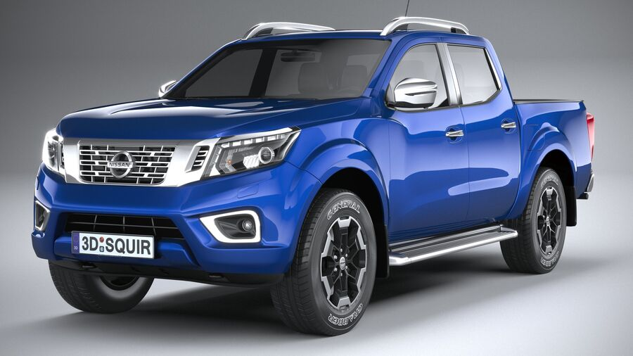 Nissan Navara DoubleCab 2020 royalty-free 3d model - Preview no. 3