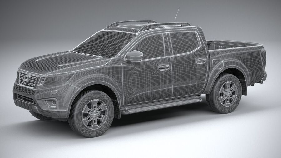 Nissan Navara DoubleCab 2020 royalty-free 3d model - Preview no. 27