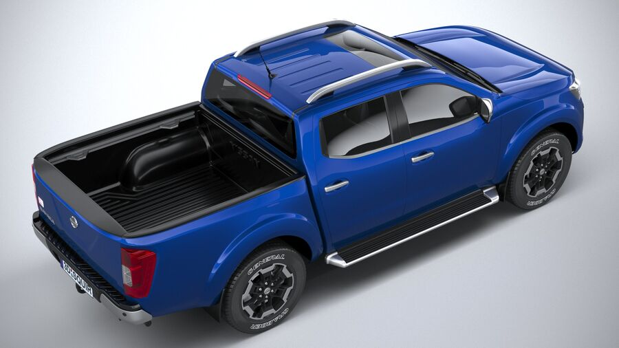 Nissan Navara DoubleCab 2020 royalty-free 3d model - Preview no. 11
