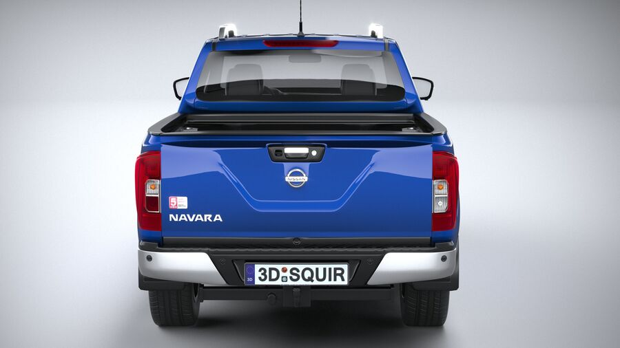 Nissan Navara DoubleCab 2020 royalty-free 3d model - Preview no. 5