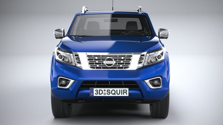 Nissan Navara DoubleCab 2020 royalty-free 3d model - Preview no. 14