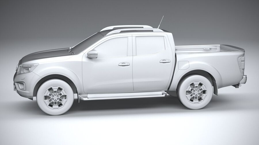 Nissan Navara DoubleCab 2020 royalty-free 3d model - Preview no. 23