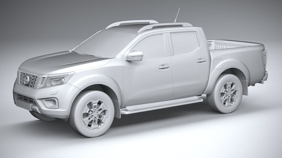 Nissan Navara DoubleCab 2020 royalty-free 3d model - Preview no. 20