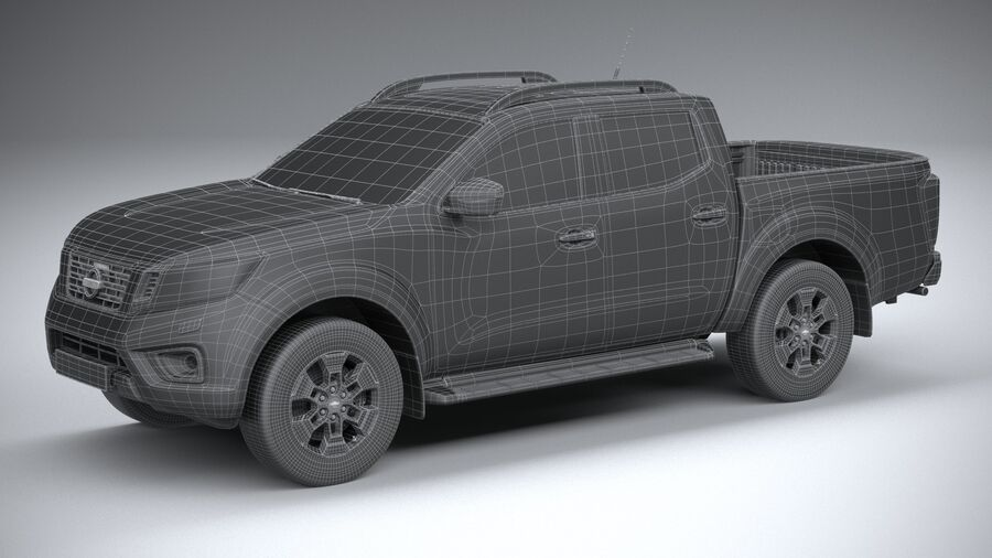 Nissan Navara DoubleCab 2020 royalty-free 3d model - Preview no. 29