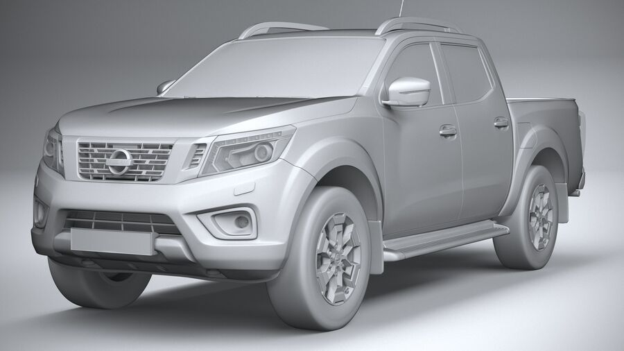 Nissan Navara DoubleCab 2020 royalty-free 3d model - Preview no. 21