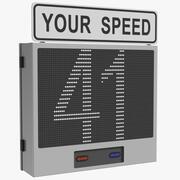Affichage électronique de la vitesse modulaire 3d model