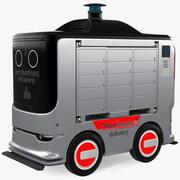 자율 배송 서비스 로봇 3d model