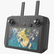 Пульт дистанционного управления квадрокоптером с дисплеем 3d model
