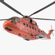 Arama Kurtarma Helikopteri Armalı 3d model