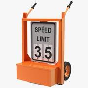 Wyświetlacz prędkości Dolly 3d model