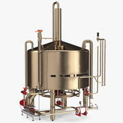 Equipo de destilación de alcohol modelo 3d