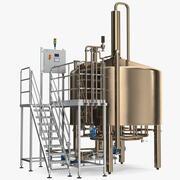 アルコール製造工場 3d model