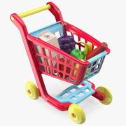 Carrello per bambini con giocattolo di cibo della drogheria 3d model