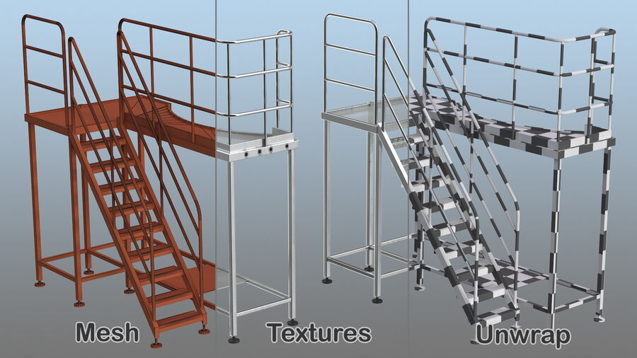 Rooftop Access Platform royalty-free 3d model - Preview no. 15