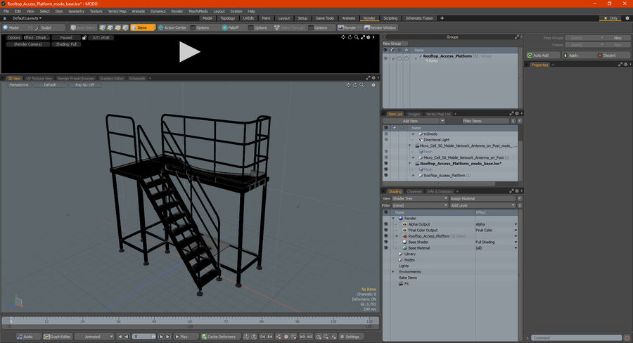 Rooftop Access Platform royalty-free 3d model - Preview no. 22
