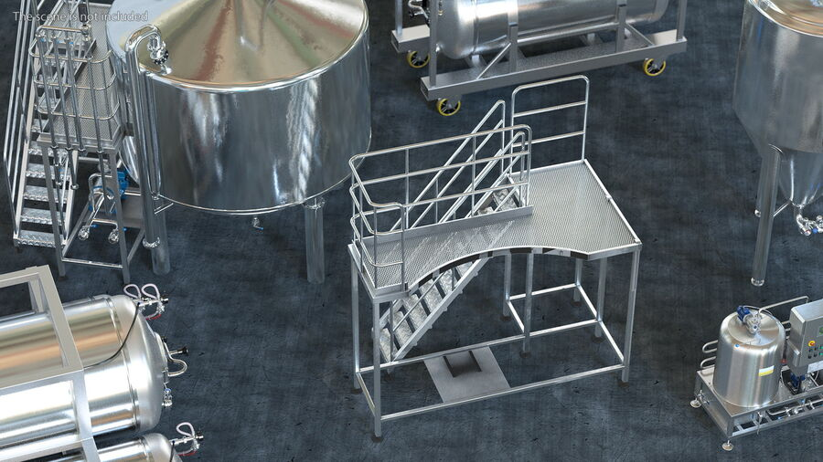 Rooftop Access Platform royalty-free 3d model - Preview no. 4